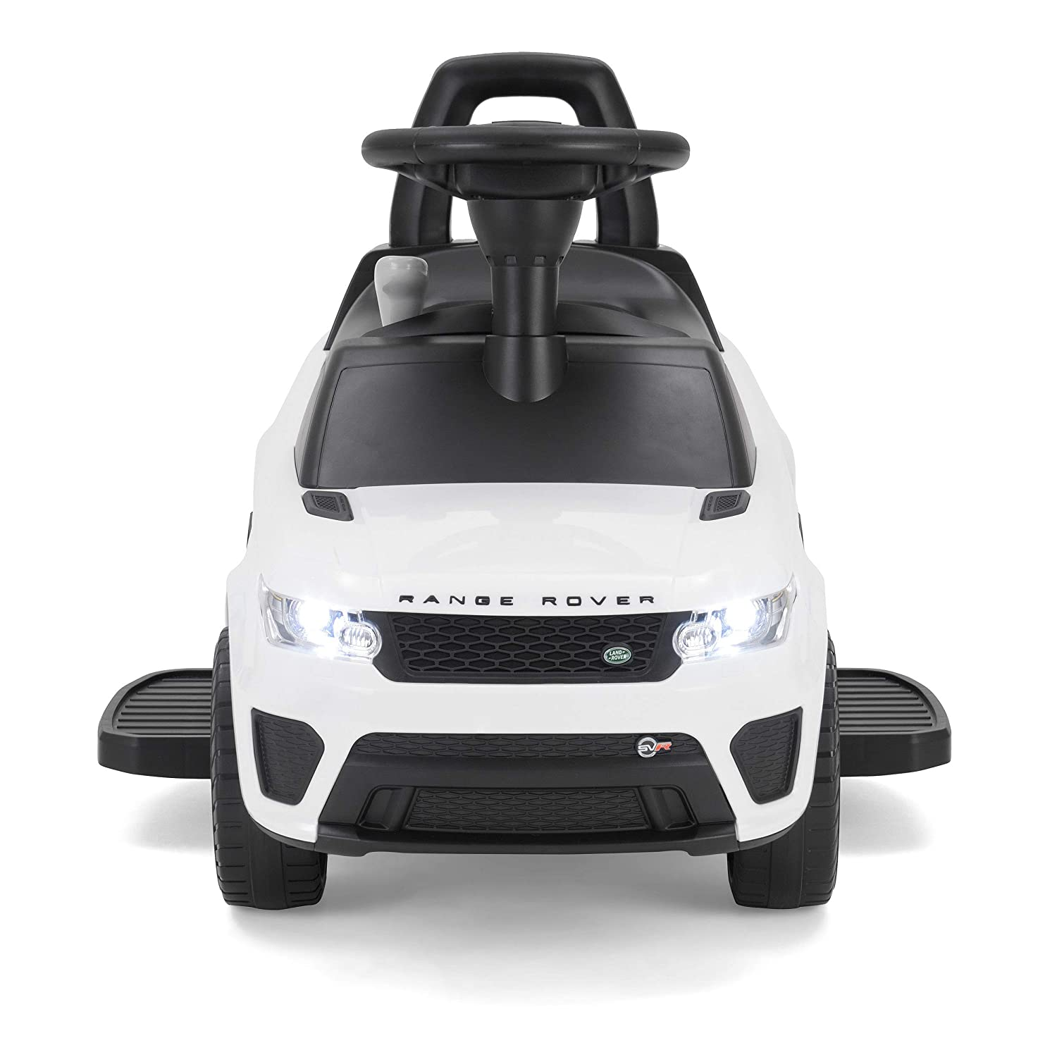 Toyrific TY6015WH ufficiale Range Rover Sport Svr Kids Electric Ride on Car sit and Go 2-in-1/ 1-toy bianco