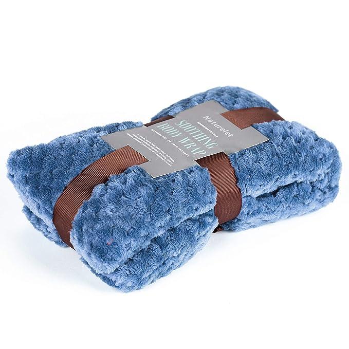 Naturelet – Saco térmico terapéutico de semillas y lavanda para microondas o congelador ideal para articulaciones Termoterapia 50 cm (Azul)