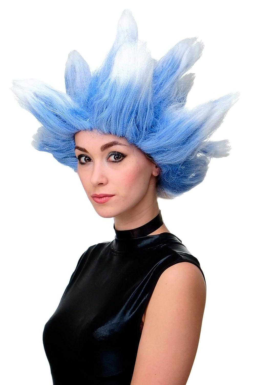 WIG ME UP Parrucca Carnevale Cosplay Vento del nord Tempesta Inverno Vento ghiacciato Blu Bianco LM19-PC3TP60