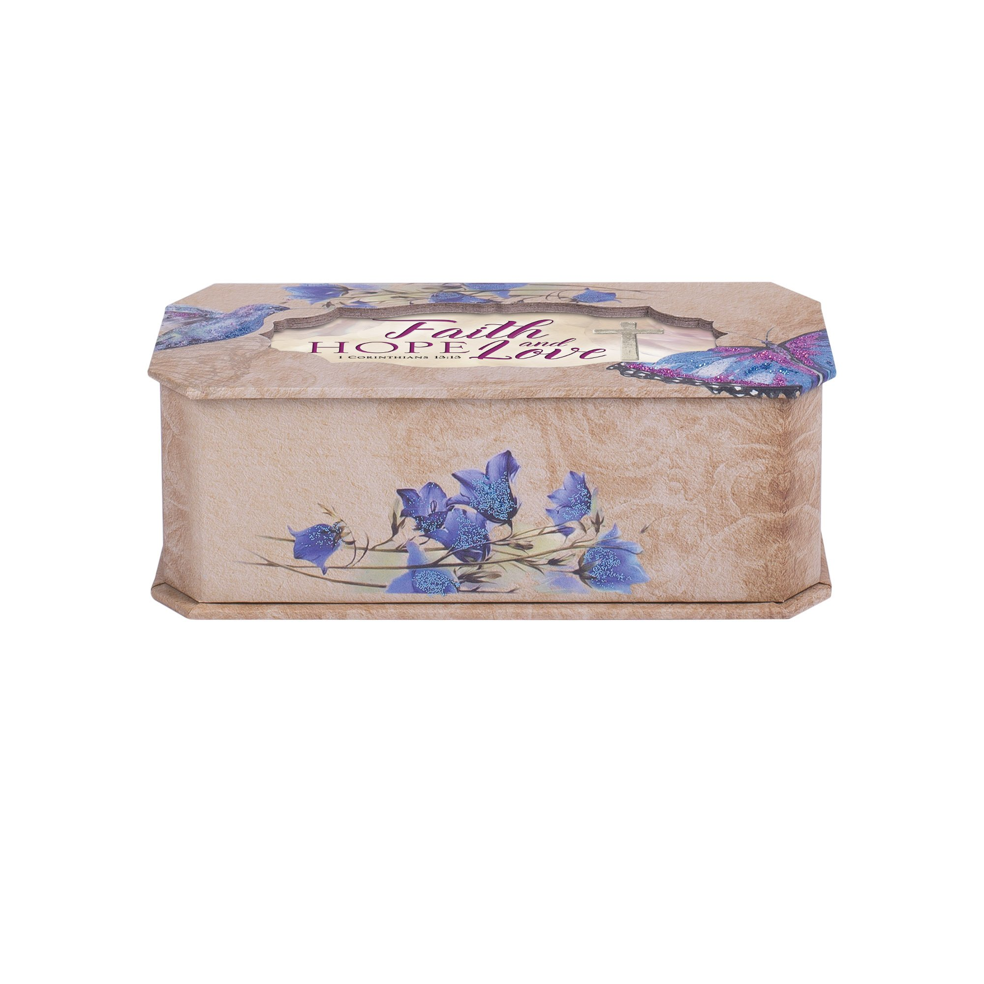 Cottage Garden Faith Hope And Love Butterfly and Bird Glitter Musical Box Plays Tune How Great Thou Art by Cottage Garden (Image #4)