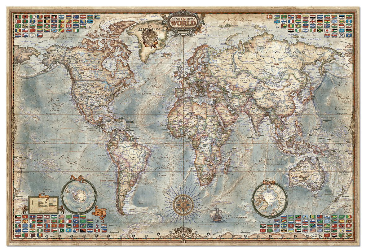 Details about 4,000 Piece Puzzle - The World Map