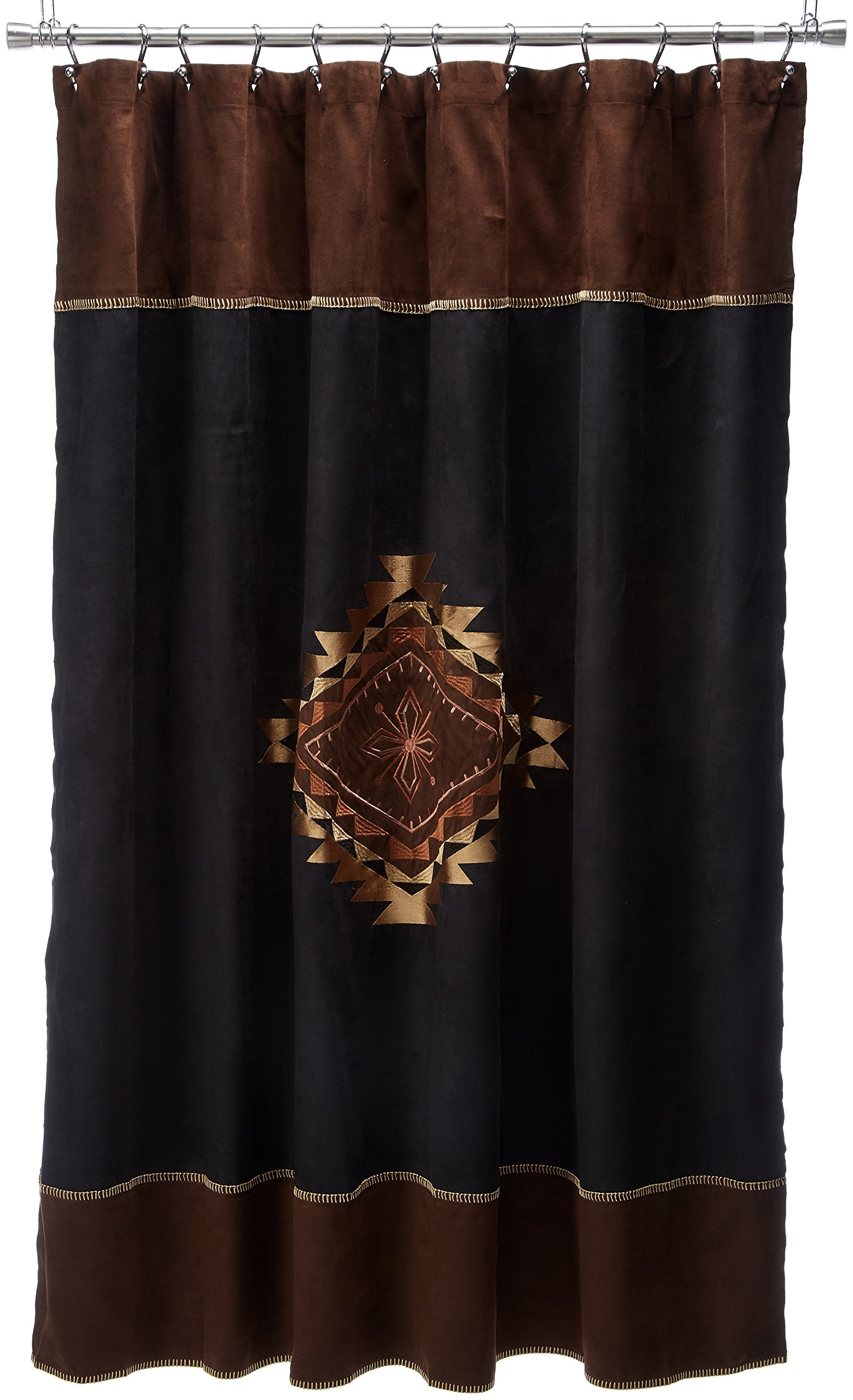 Avanti Linens Mojave72'' x 72'' Shower CurtainBrown and Black Suede Fabric