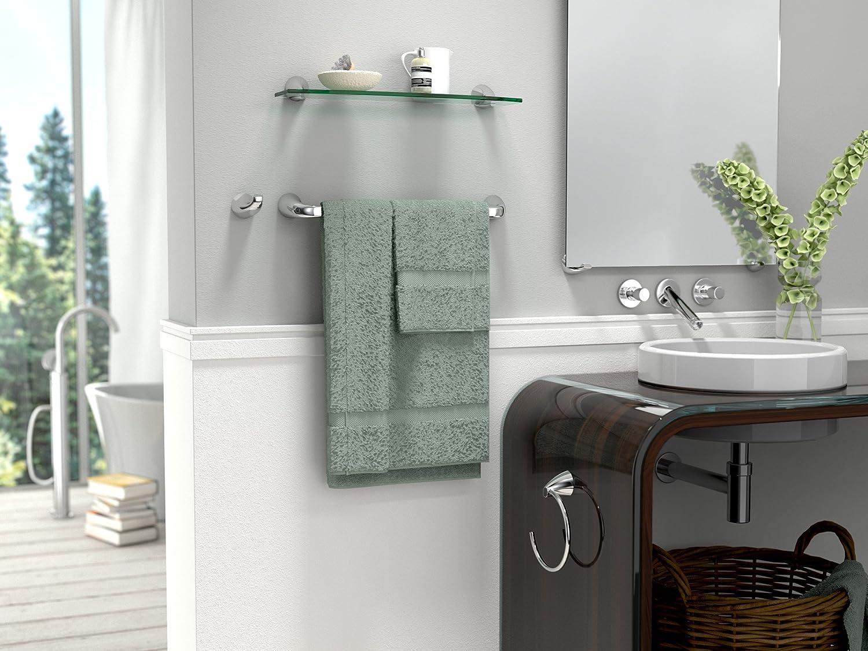 18 Chrome Gatco 5101 Brie Bathroom Towel Bar