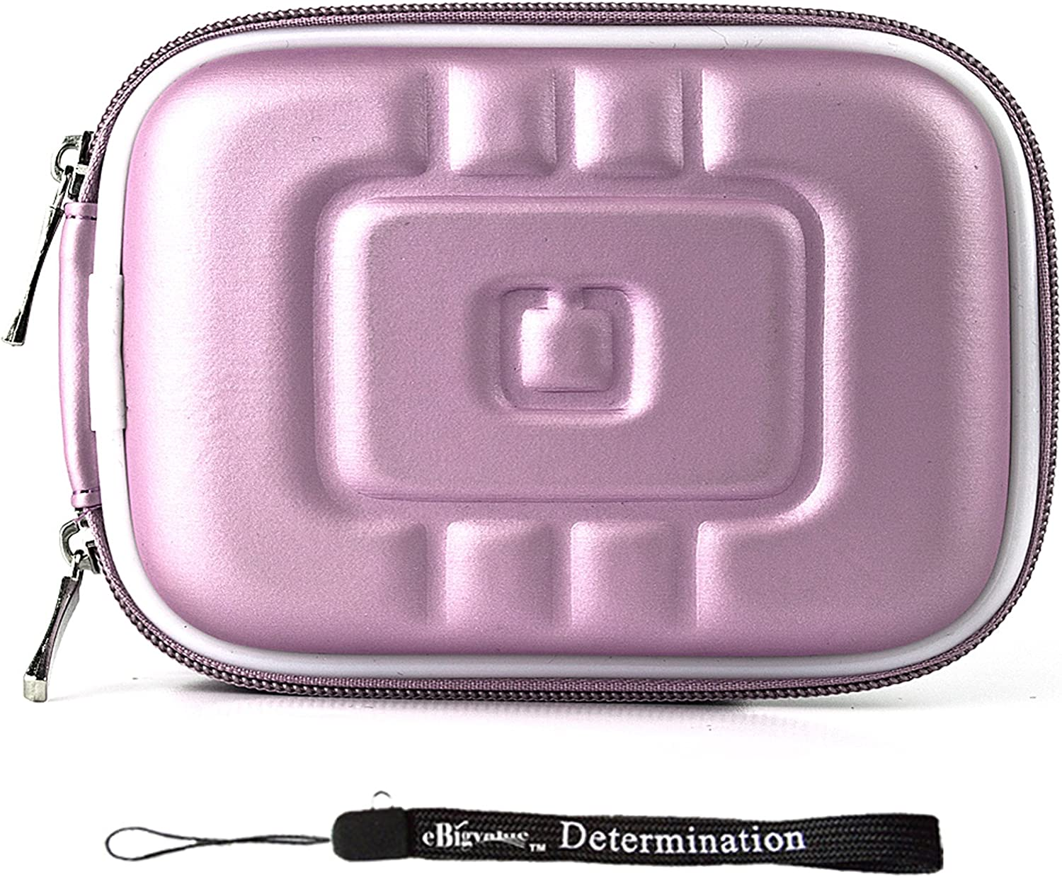 Purple Eva Durable Protective Cover Cube with Mesh Pocket for Compact Sizes Fitted for Hewlett Packard Compact Digital Cameras
