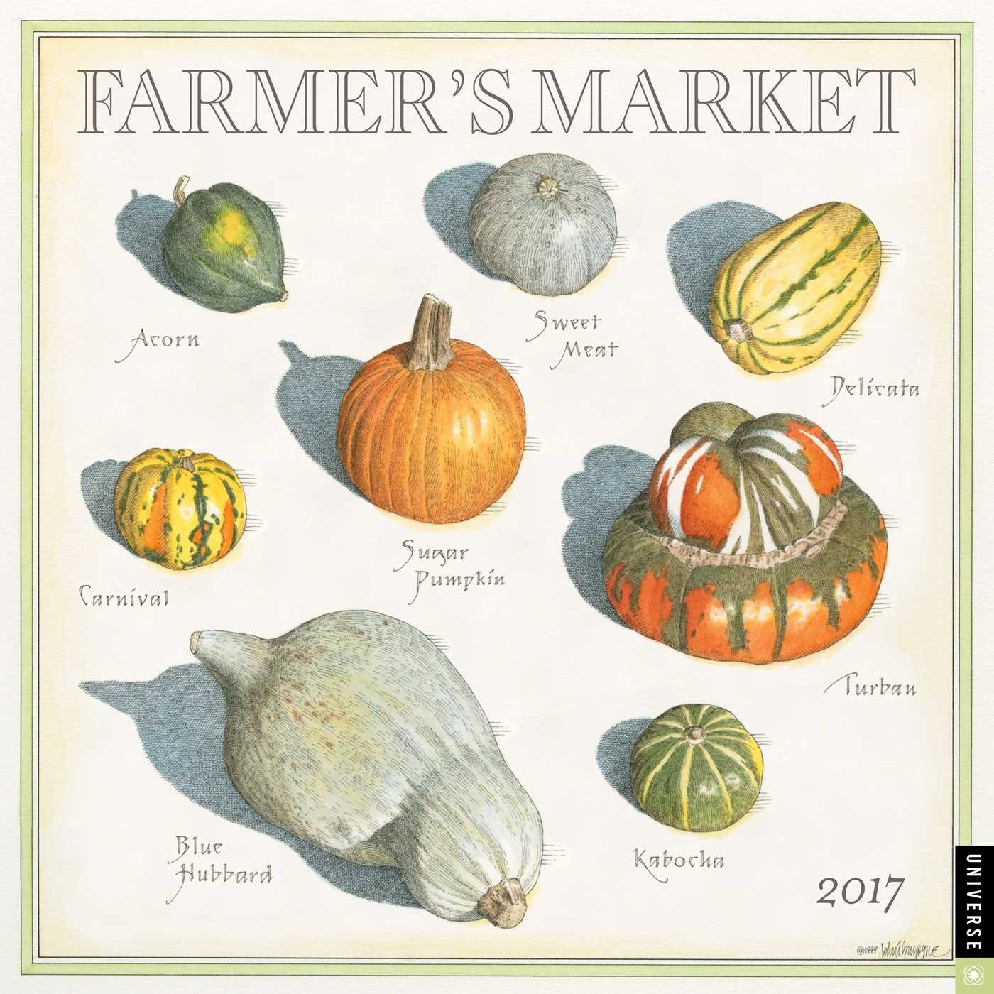 Farmer\'s Market 2017 Wall Calendar: John Burgoyne: 9780789331694 ...