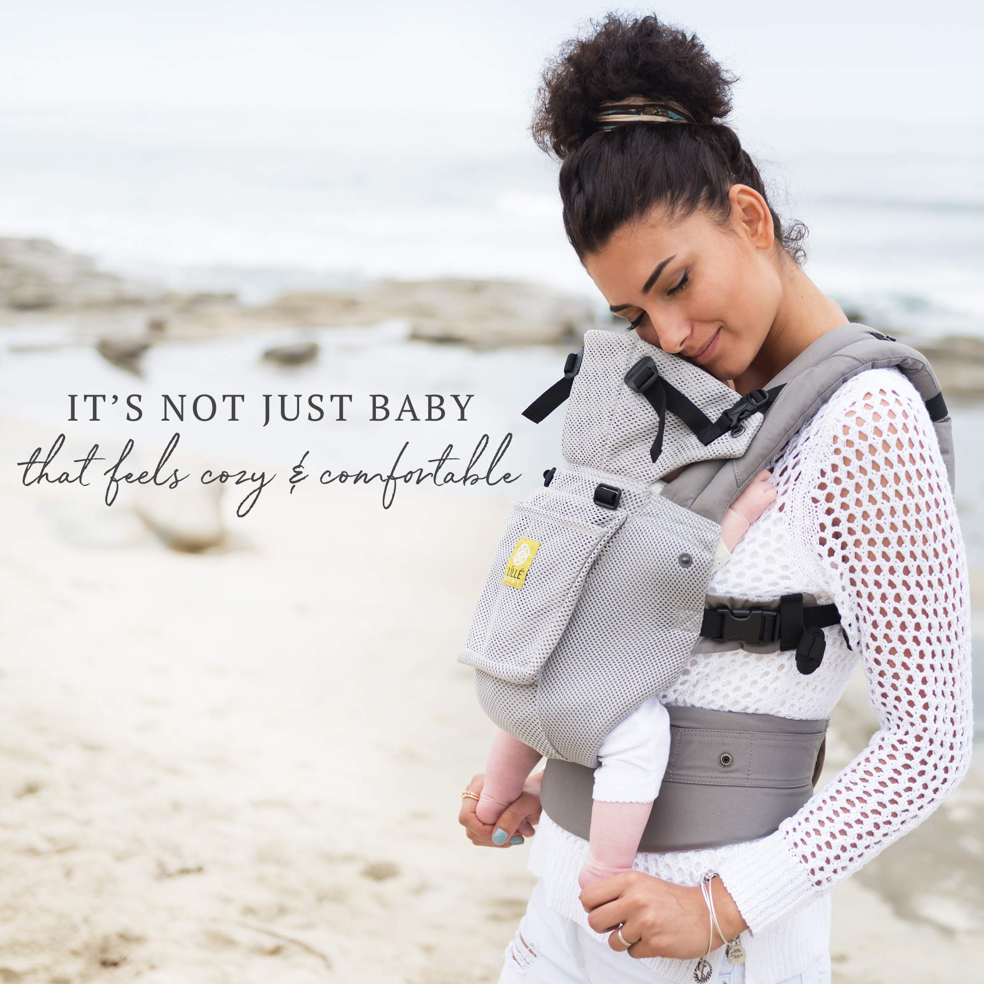 Lillebaby The Complete Airflow 360° Ergonomic Six-Position Baby & Child Carrier, Silver by LILLEbaby (Image #4)