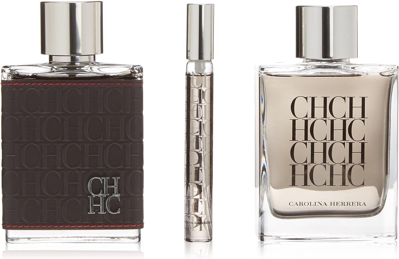 Carolina Herrera CH Men - Set 3 piezas: Eau de toilette 100ml, Eau mini 10 ml, After Shave 100ml: Amazon.es: Belleza