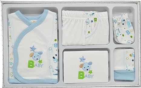 Juego primera puesta 5 piezas. Color Azul.: Amazon.es: Bebé