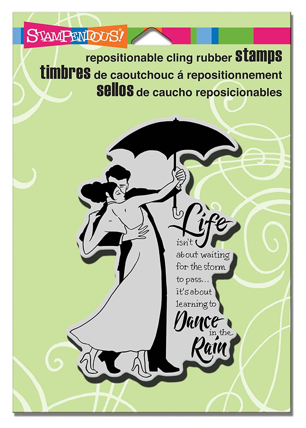 Stampendous CRP254 Cling Rain Dance Rubber Stamp