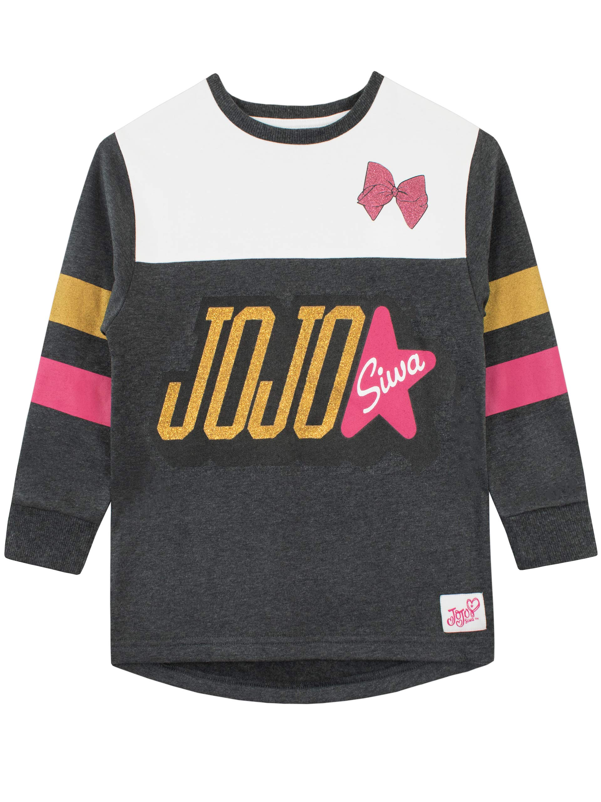 JoJo Siwa Girls' Jo Jo Sweat Dress Size 10 Multicolor