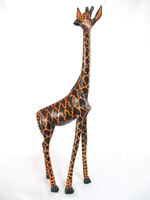 Wood Giraffe Home Decor 6 Inch Wooden Giraffe