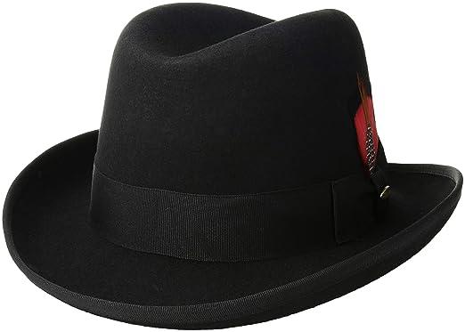 Scala Classico Men s Wool Felt Homburg Hat at Amazon Men s Clothing ... b0db5c1c935