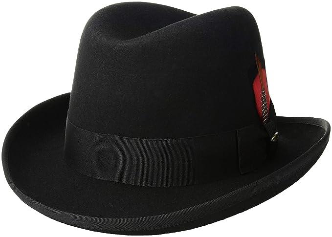 19fe3873bc50f8 Scala Classico Men's Wool Felt Homburg Hat: Amazon.ca: Clothing ...