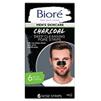 Deals on 6-Ct Biore Men's Charcoal Deep Cleansing Pore Strips