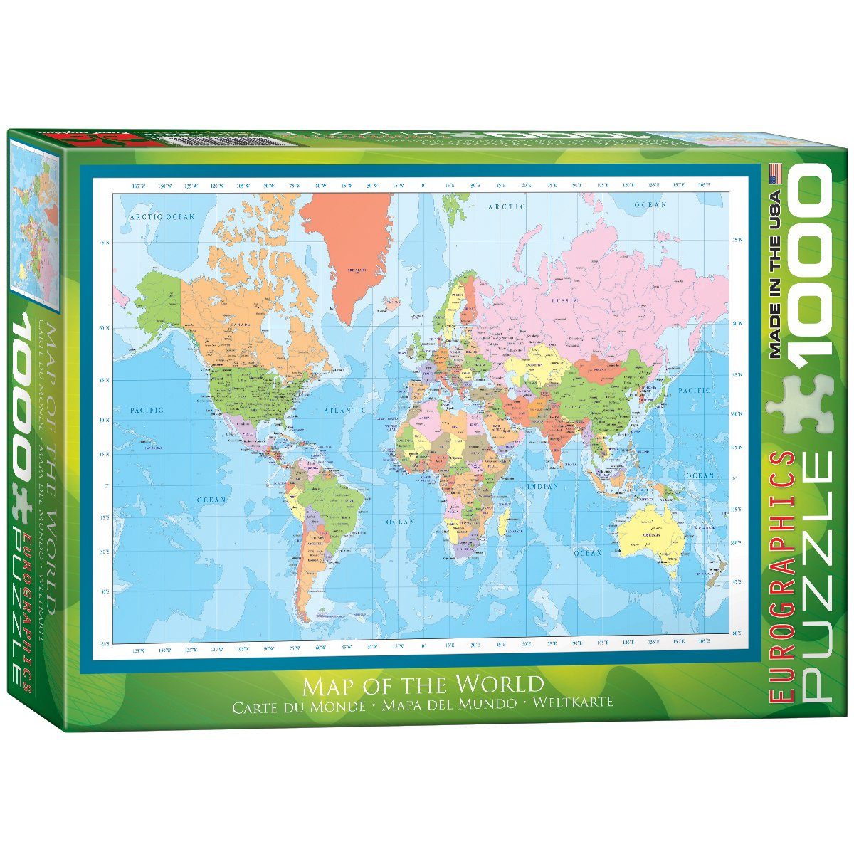 Eurographics modern map of the world 1000 piece puzzle jigsaw eurographics modern map of the world 1000 piece puzzle jigsaw puzzles amazon canada gumiabroncs Image collections