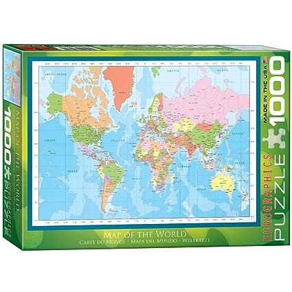Amazon.com: EuroGraphics Modern Map of the World Puzzle (1000-Piece ...
