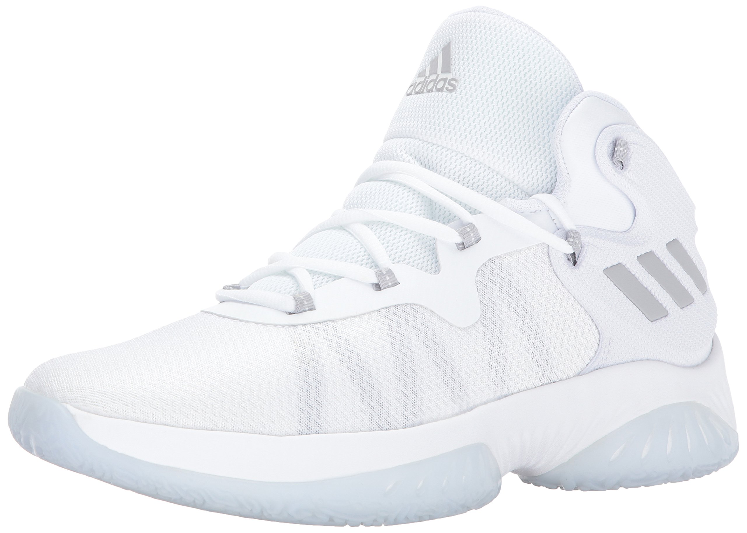 adidas Men's Explosive Bounce Basketball Shoes, Grey Two/White, (19 M US) by adidas