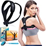 Premium Back Posture Corrector for Women & Men | Effective and Comfortable Posture Brace | Upper Back Straightener for Slouching & Hunching | Clavicle Support Improve Bad Posture | Scoliosis Corrector
