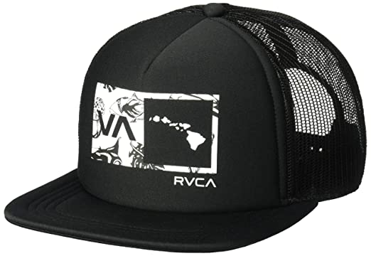 c4678716 Amazon.com: RVCA Men's Islands Balance Box Trucker HAT, Black One ...