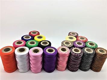 20 x bobinas de máquina de coser seda bordado m & hilos Brother Babylock Janome cantante