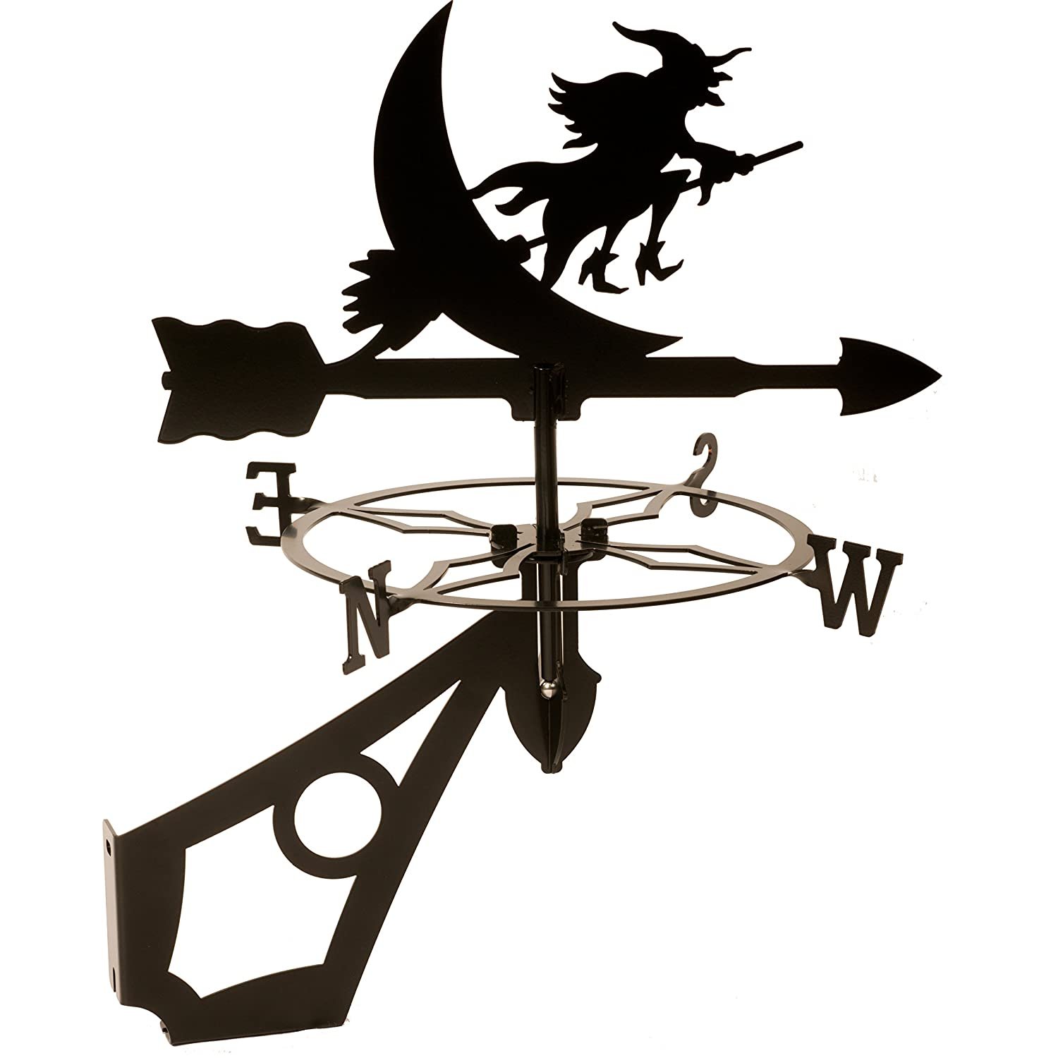 Dragon Laser Ltd. W128BLK Witch Flying Weathervane