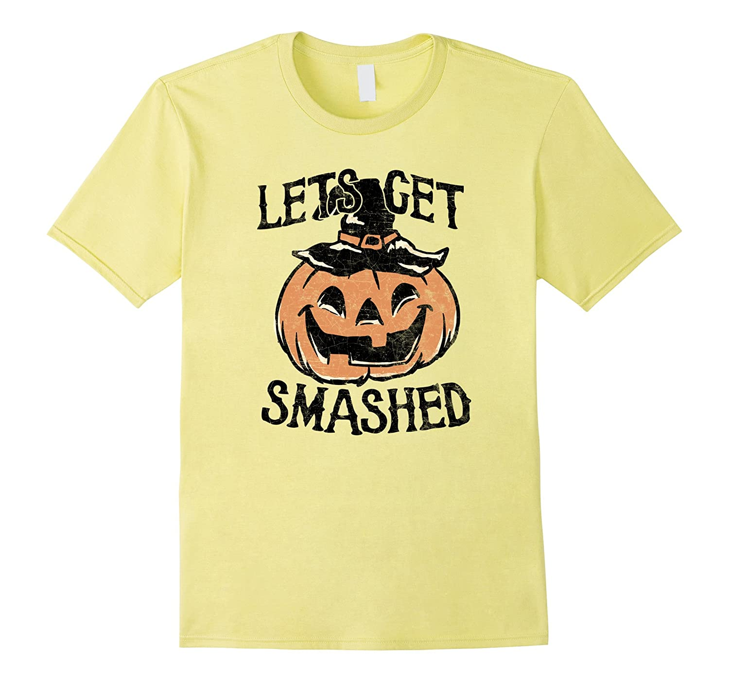 3e248efe Vintage Halloween Shirt – Lets Get Smashed Pumpkin Shirt-CL – Colamaga