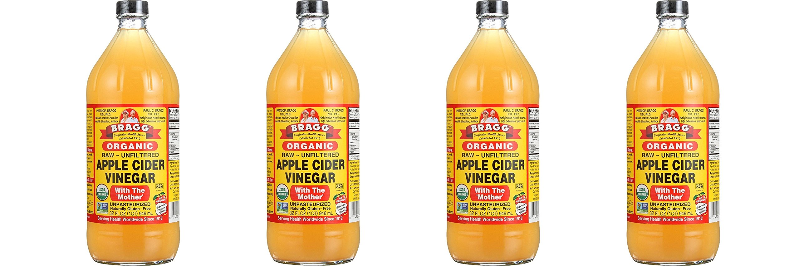 Bragg djpKPe Usda Organic Raw Apple Cider Vinegar, 32 oz (4 Pack)
