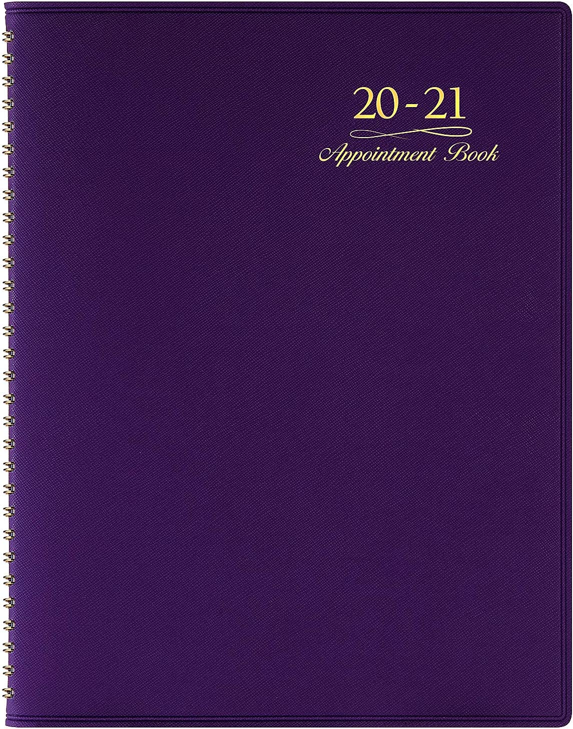 """2020-2021 Weekly Appointment Book & Planner - 2020-2021 Daily Hourly Planner 8.4"""" x 10.6"""", Jul 2020 - Jun 2021, 15-Minute Interval, Flexible Soft Cover, Twin-Wire Binding, Lay - Flat"""