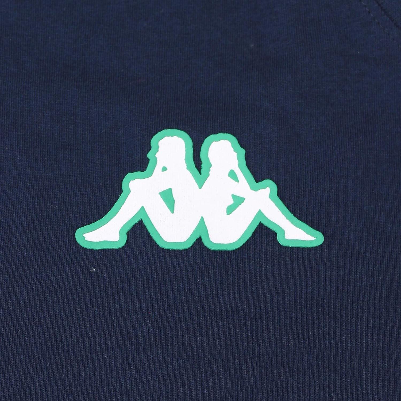 Camiseta de algod/ón de manga corta Real Betis Balompi/é 2018//2019 Azul marino//Verde Adulto Kappa Ambra Tee
