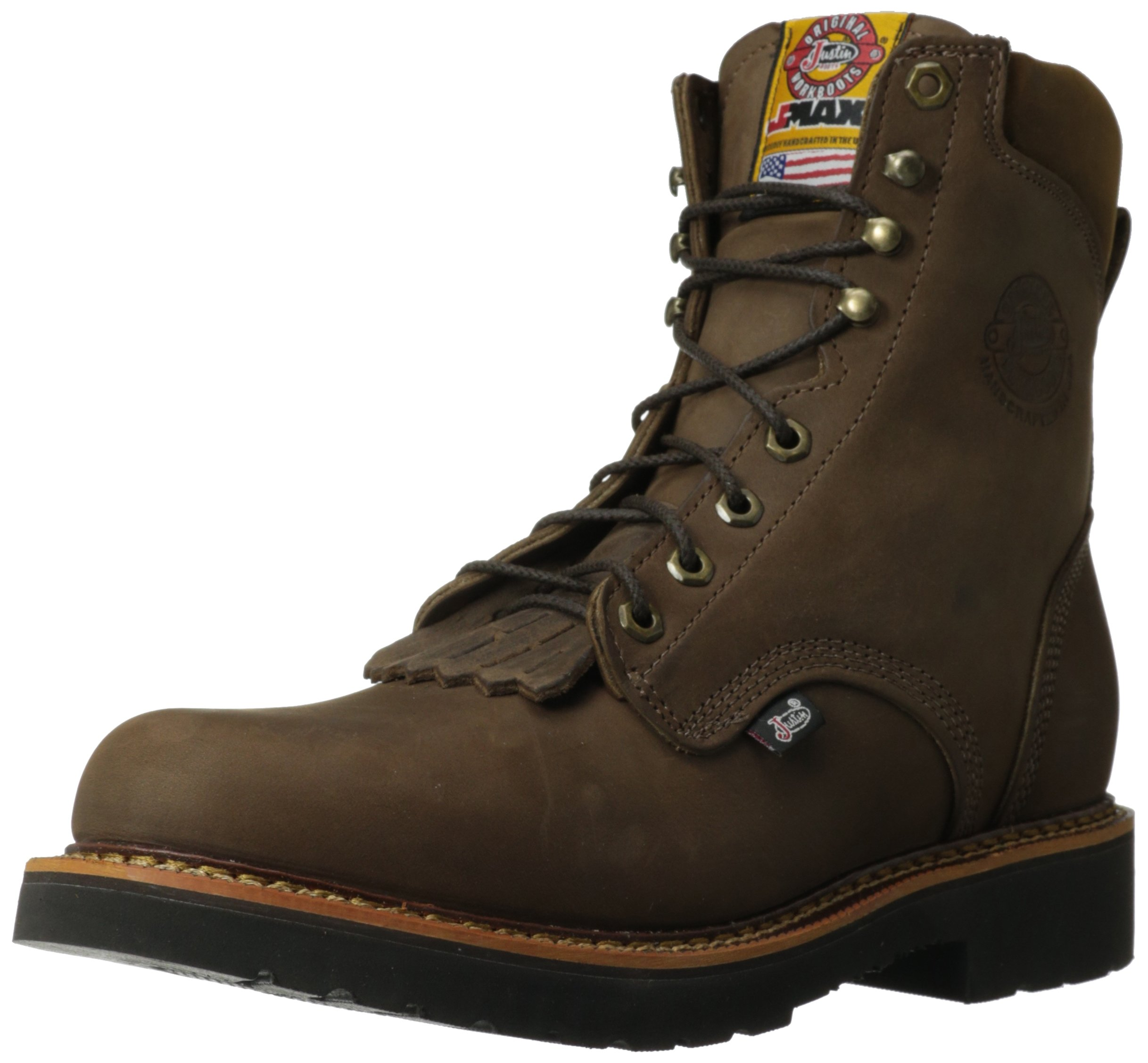 Justin Original Work Boots Men's Jmax Work Boot,Rugged Chocolate/Gaucho,11 D US