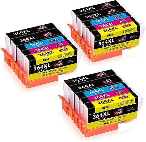 JIMIGO 364XL Cartuchos de Tinta Reemplazo Para HP 364 Tinta ...