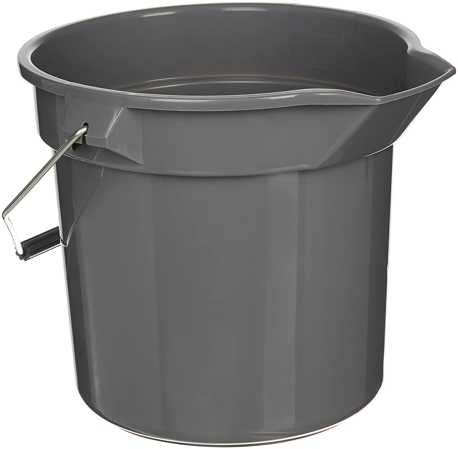 AmazonBasics 10 Quart Plastic Cleaning Bucket, Grey - 6-Pack #RB-10G