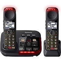 Panasonic Amplified Digital Cordless Phone with Answering Machine & Twin-Pack Handsets (KX-TGM422AZB)