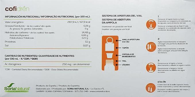 Soria Natural Cofidren Doble Acción con Cafe Verde - 14 ...