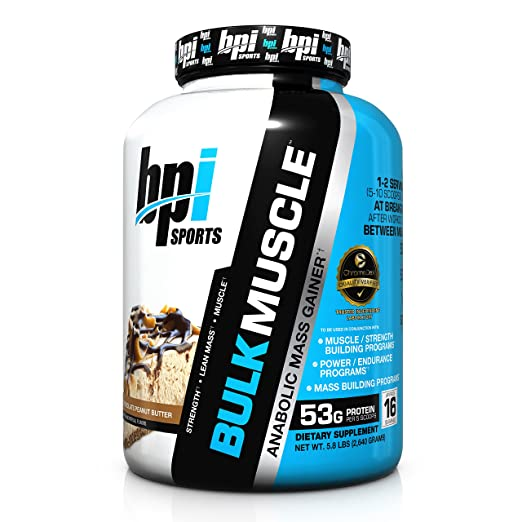 BPI Sports Bulk Muscle Protein Powder, Chocolate Peanut Butter, 5.8 Pound