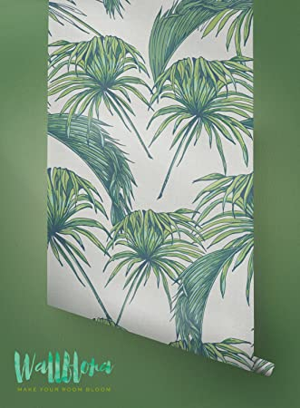Tropical Pattern Wallpaper   Exotic Removable Wallpaper   Palm Leaves  Wallpaper   Wall Sticker   Tropical