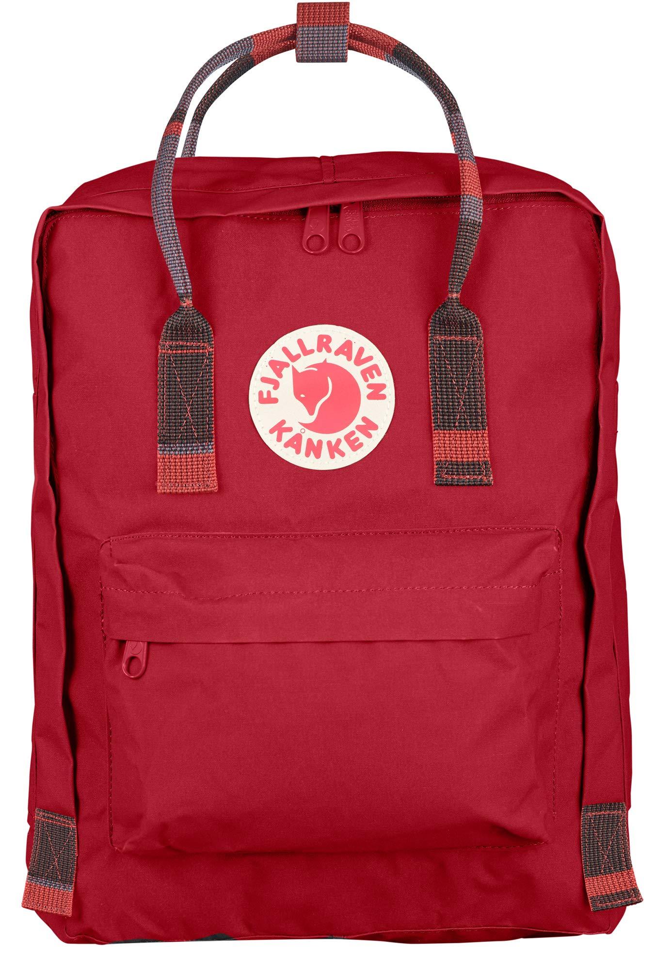 Fjallraven - Kanken Classic Backpack for Everyday, Deep Red/Random Blocked