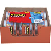 Scotch Heavy Duty Shipping Packaging Tape, 1.88 Inches x 800 Inches, 6 Rolls with Dispenser