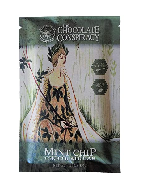 Amazon.com : The Chocolate Conspiracy Mint Chip Bar 75 ...