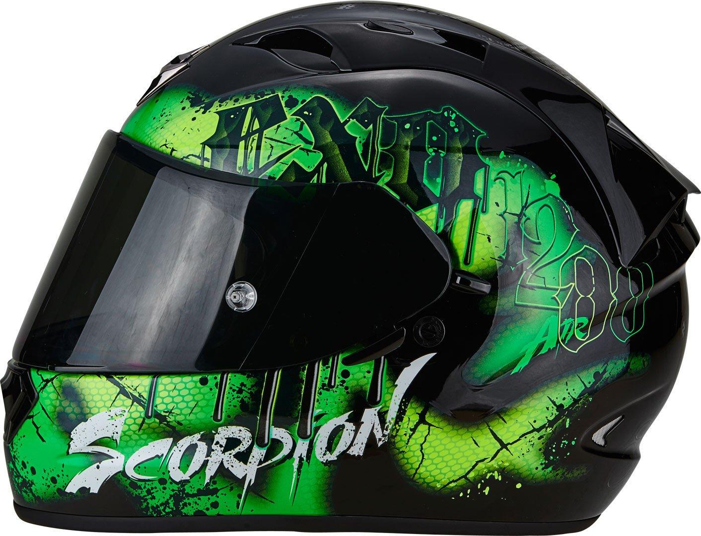 SCORPION Casque Moto EXO-1200/AIR tenebris Black//Green L