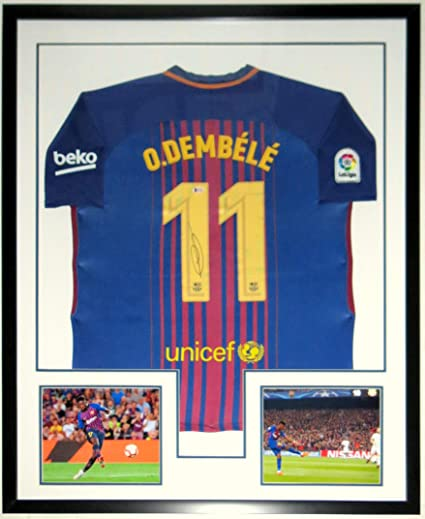 8b53ce9b8 Ousmane Dembele Signed Nike FC Barcelona Jersey - Beckett Authentication  Services BAS COA Authenticated - Professionally