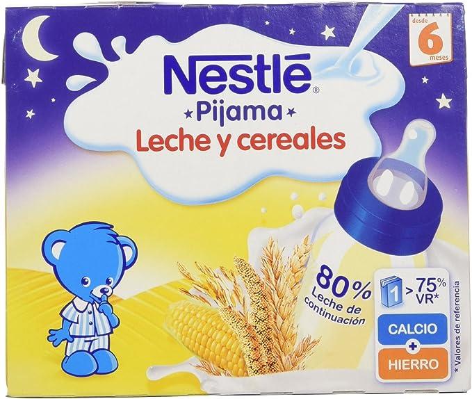 Nestlé - Leche y Cereales Pijama - Paquete de 2 x 250 ml - Total: 500 ml - , Pack de 6: Amazon.es: Alimentación y bebidas