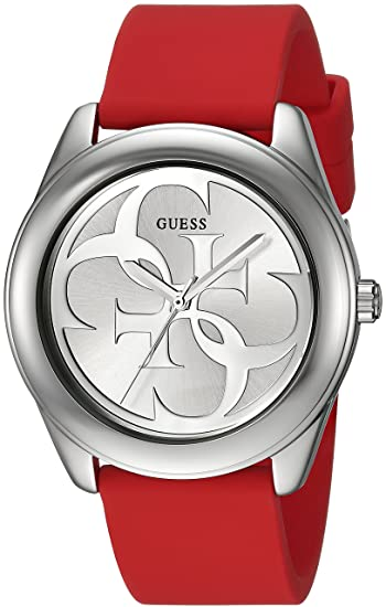 Amazon.com: GUESS Womens Stainless Steel Silicone Casual Watch, Color: Red (Model: U0911L9): Watches