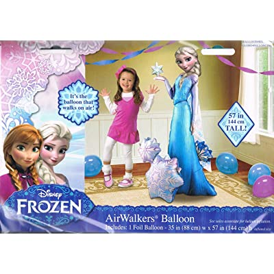 "Anagram Frozen Elsa Airwalker 57"" Birthday Party Jumbo Balloon Decoration: Toys & Games"