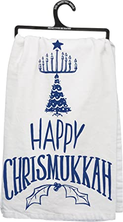 Oy Vey Hanukkah Gifts Home Decor Kitchen Towel by Primitives by Kathy Fast Ship