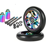 100mm Scooter Wheels - Pro Scooter Wheels 100mm Pair - Neo Oil Slick 100mm Metal Scooter Wheels Replacement - Pro…