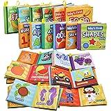 JOYIN 12 Packs My First Soft Bath Books, Nontoxic Fabric Soft Baby Cloth Books,Early Education Toys, Waterproof Baby Books fo