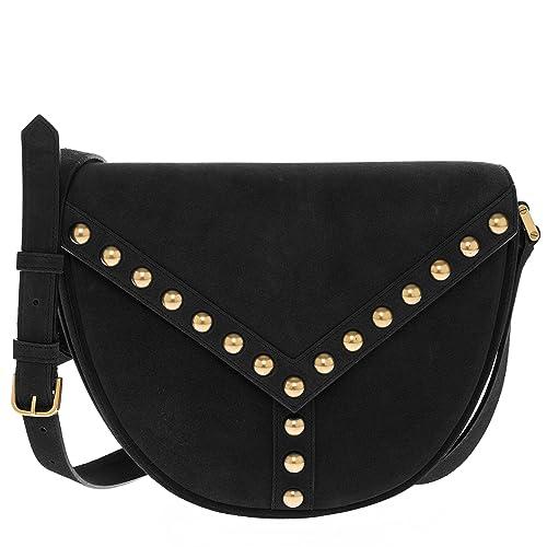 63f2a7f982b6 Saint Laurent Women s  Y Studs  Suede Gold Studded Shoulder Bag Black   Amazon.ca  Shoes   Handbags