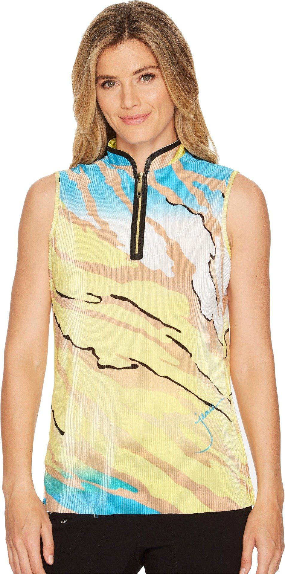 Jamie Sadock Women's Le Tigre Crunchy Textured Sleeveless Top Gigabryte X-Large