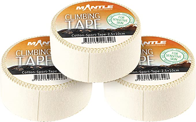 Mantle Kletterzubehör Climbing Tape 3 Stück - Protección pasiva para Escalada, Color Blanco, Talla m
